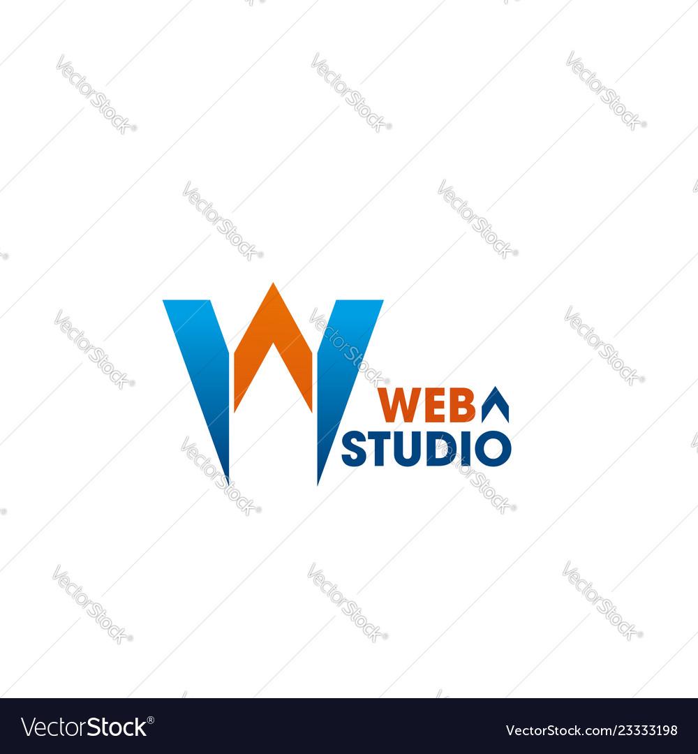 Web studio emblem