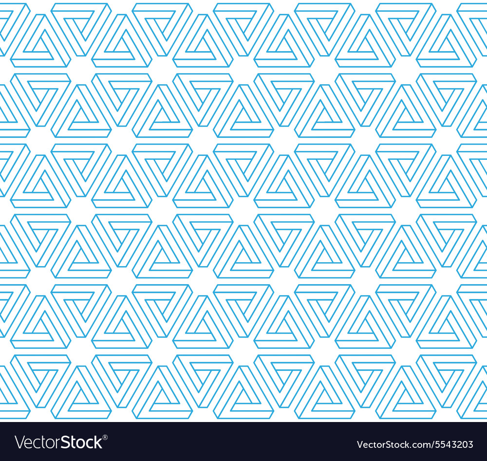 3d impossible triangles seamless pattern