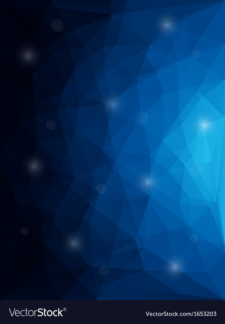 Abstract modern style polygon background vector image