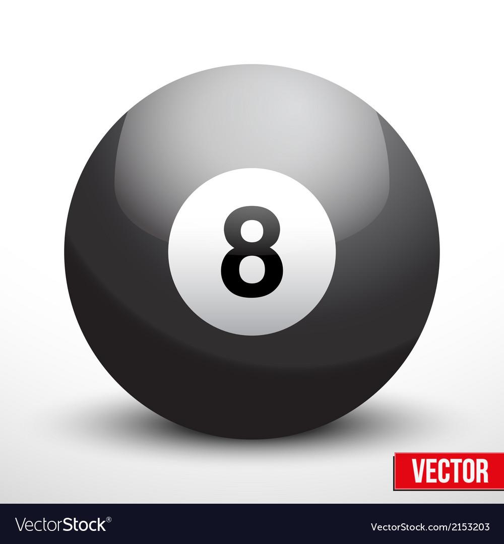 Black ball sphere for billiards