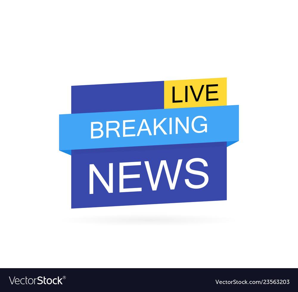 Breaking news logo live bannertv news