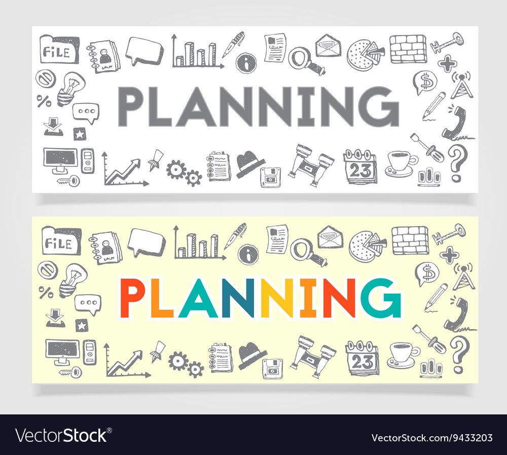Business Planning Doodle Concept vector image