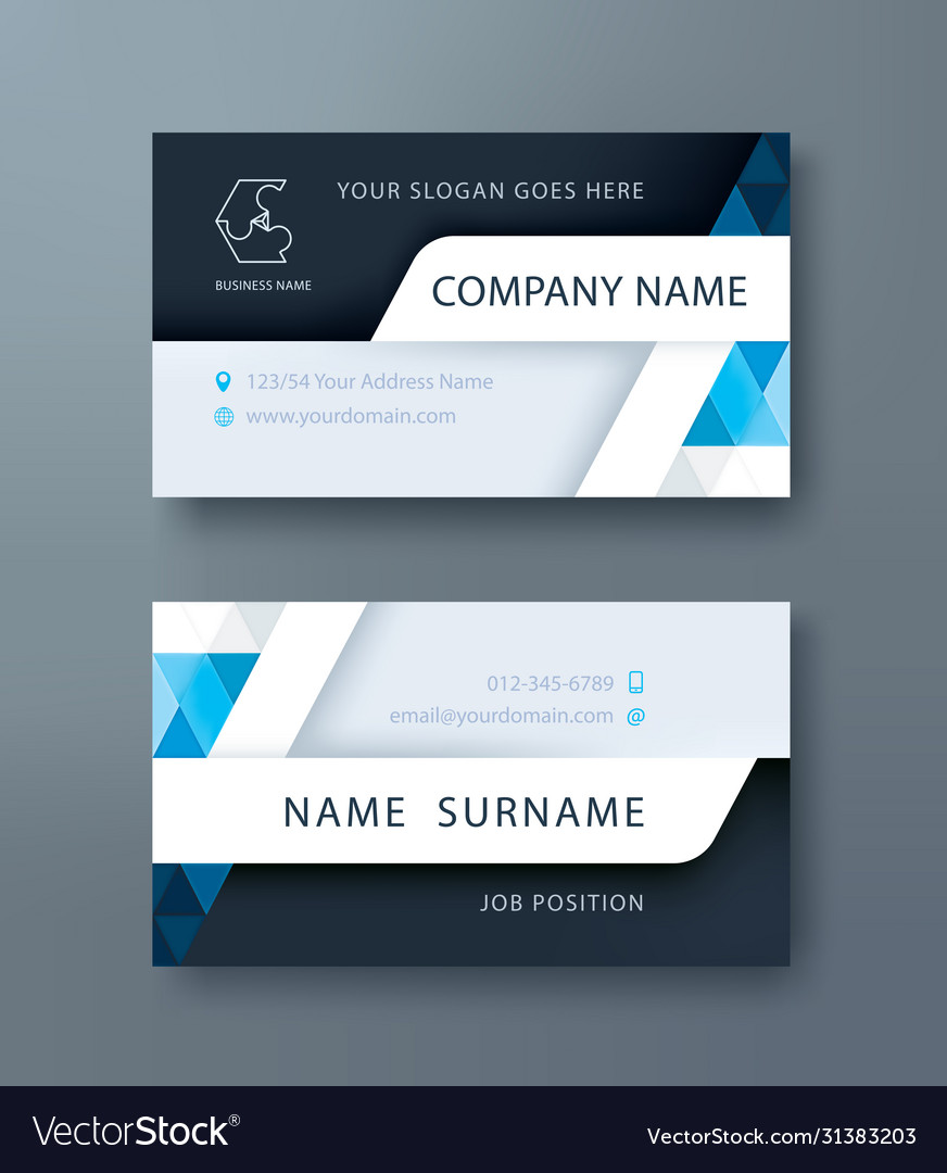Corporate business personal name card template
