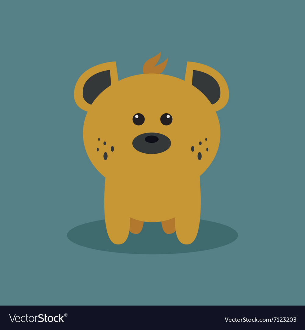 Cute Cartoon Hyena vector image