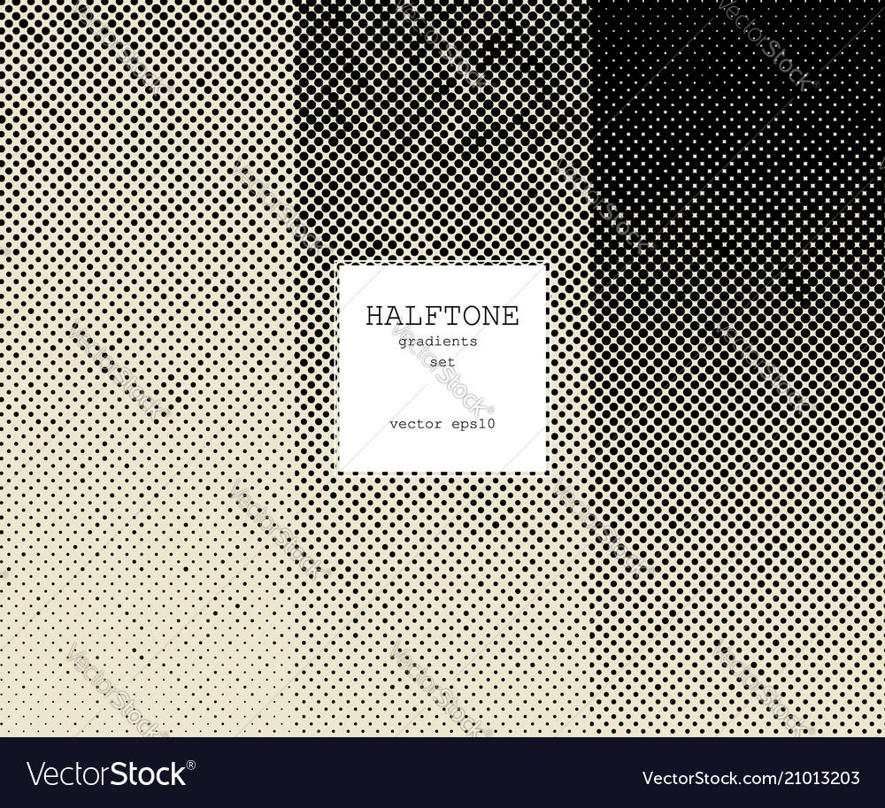 Halftone gradients