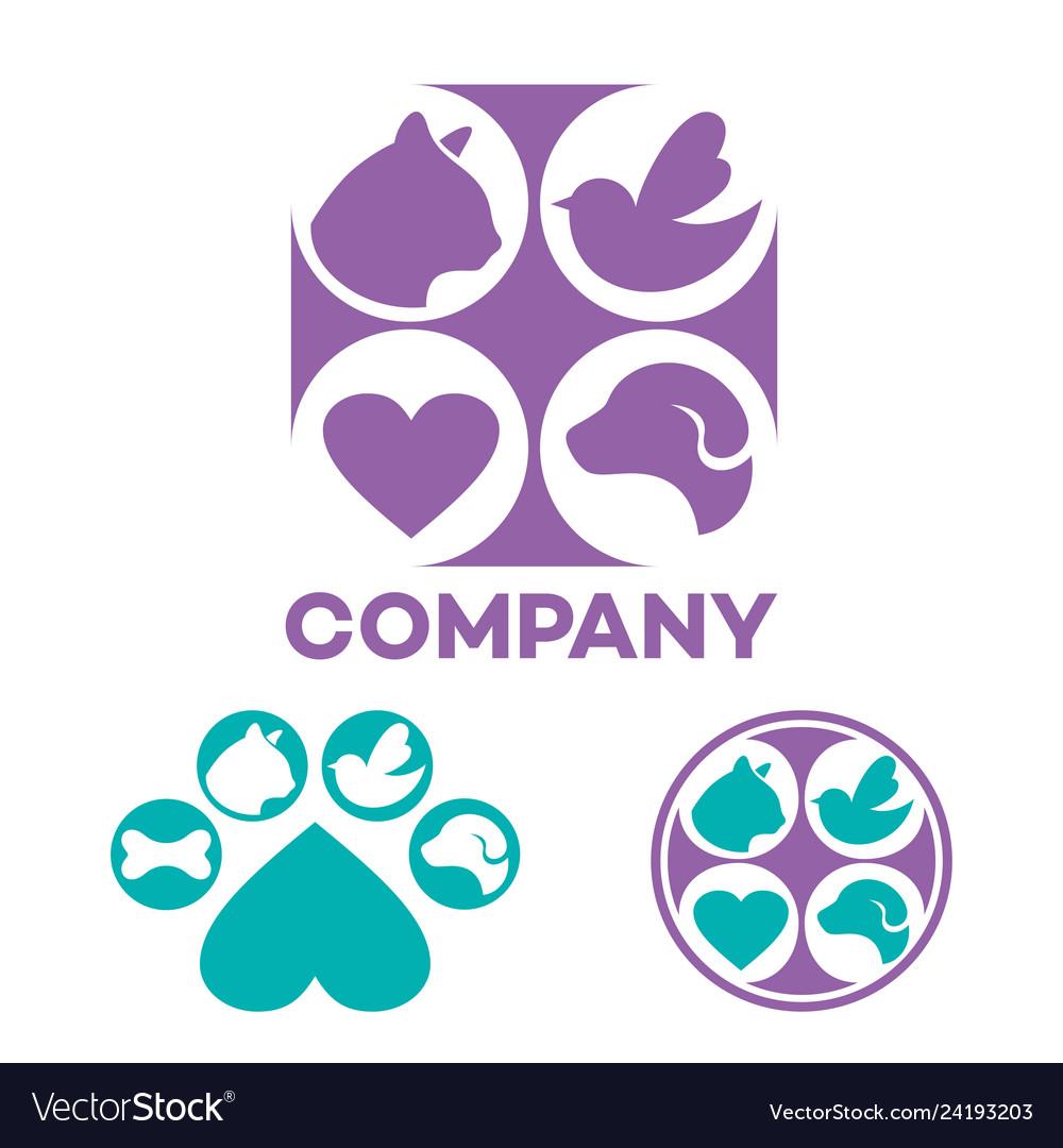 Pet veterinary clinic logo