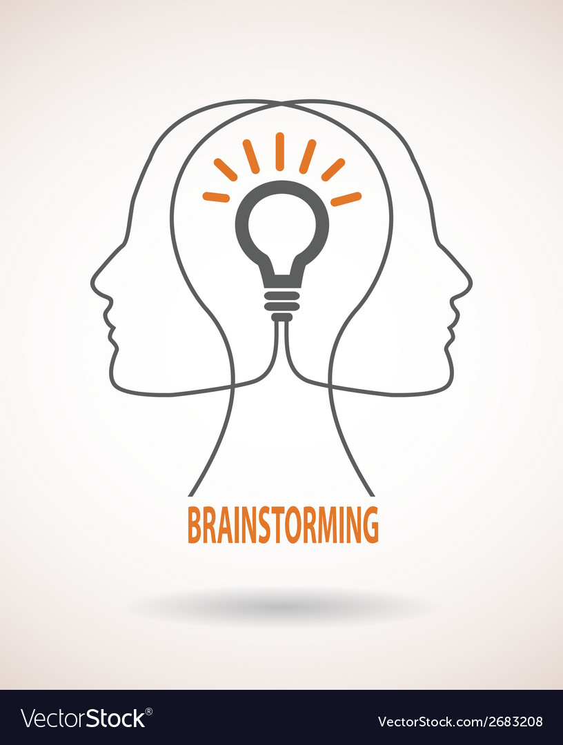 Concept of business idea and brainstorming vector image