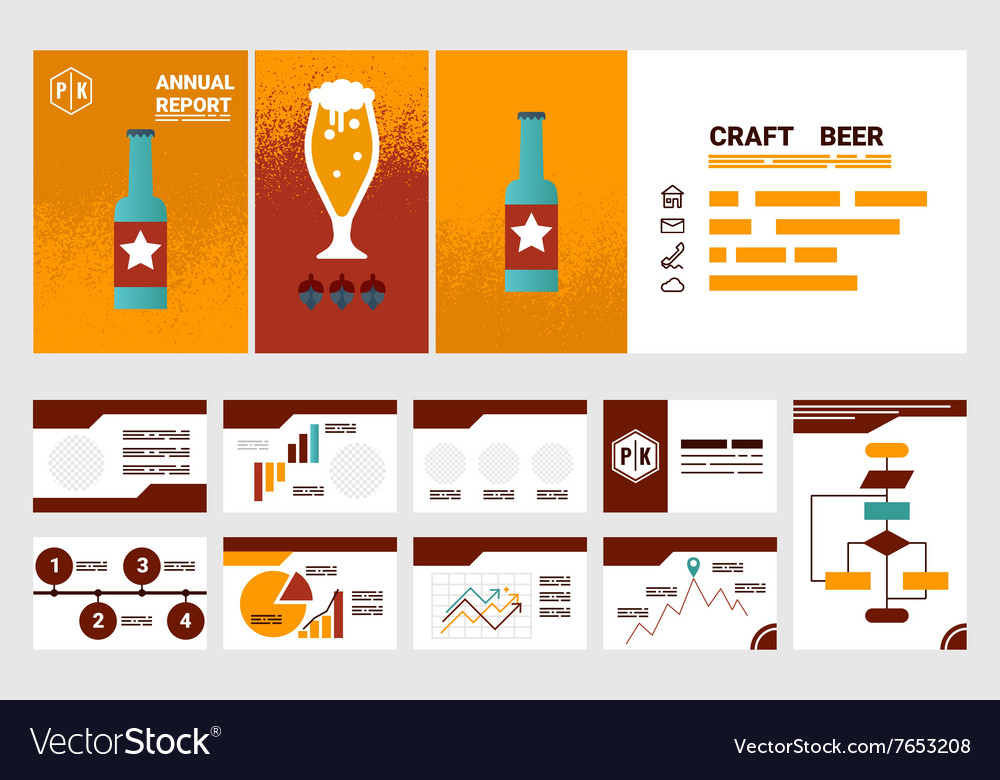 Craft beer company annual report cover A4 sheet