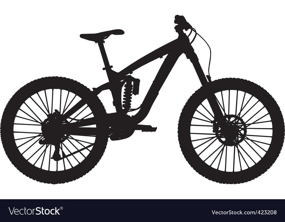 downhill mountain bike royalty free vector image rh vectorstock com bike t shirt vector vector bike wheel