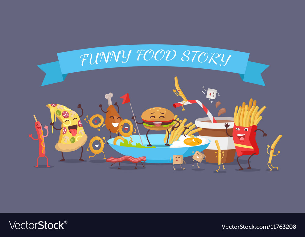 Funny Food Story Banner