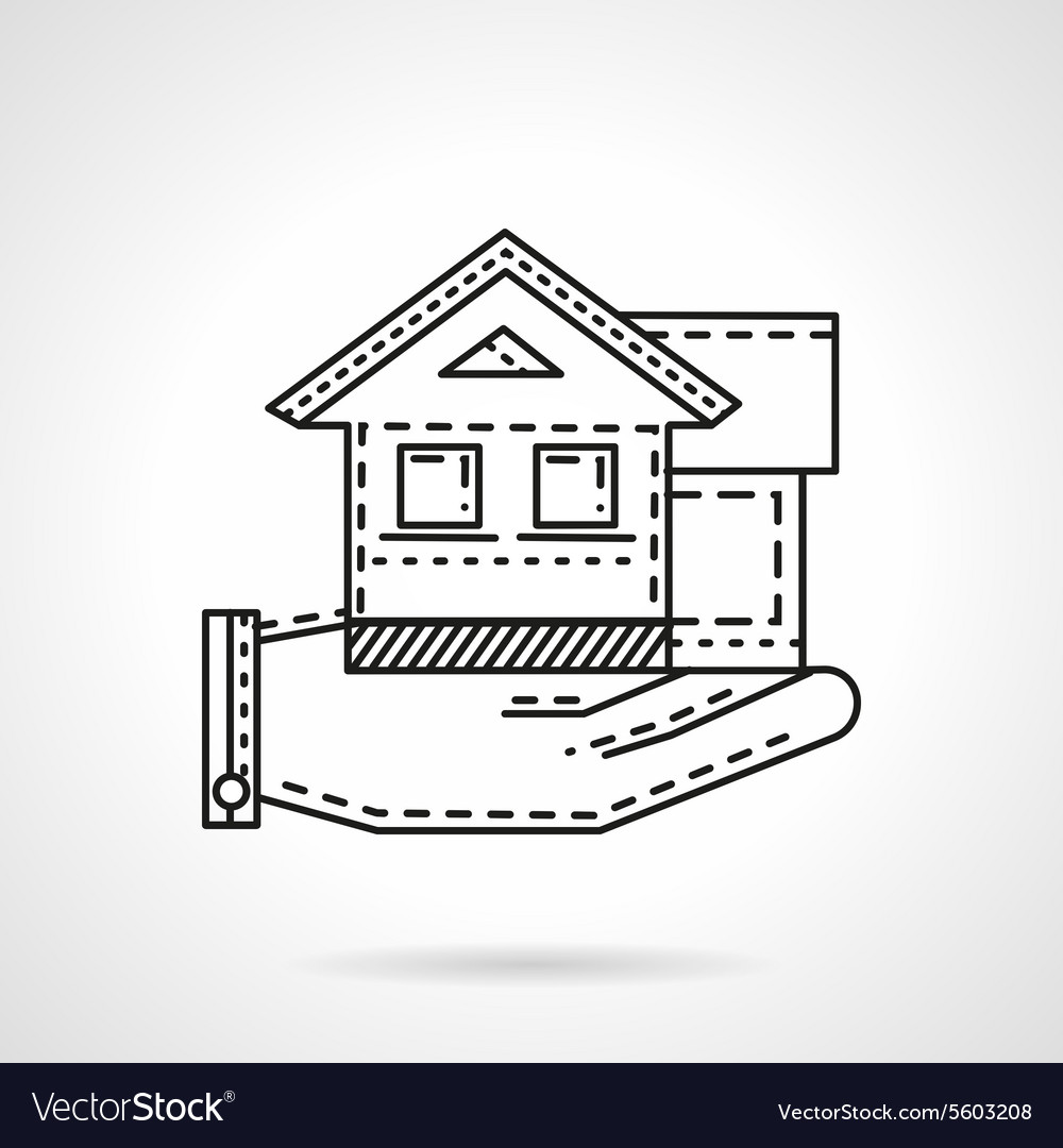 Rental house line icon