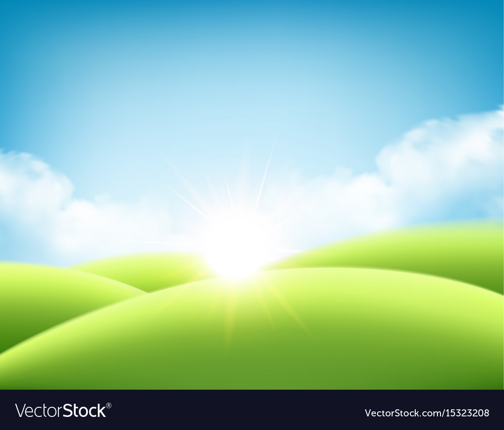 Summer nature sunrise background a landscape with