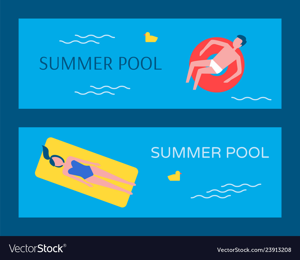 Summer swimming pool posters