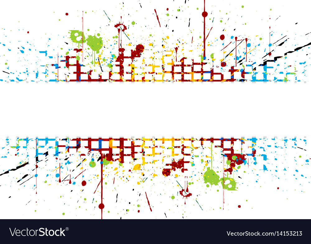 Abstract bright colored striped splatter colored