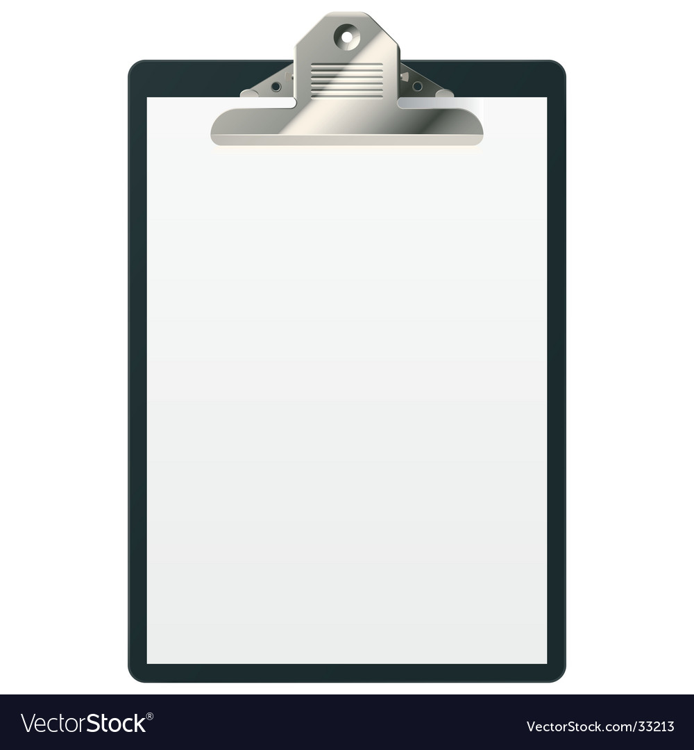 clipboard royalty free vector image vectorstock rh vectorstock com clipboard vector icon clipboard vector icon free