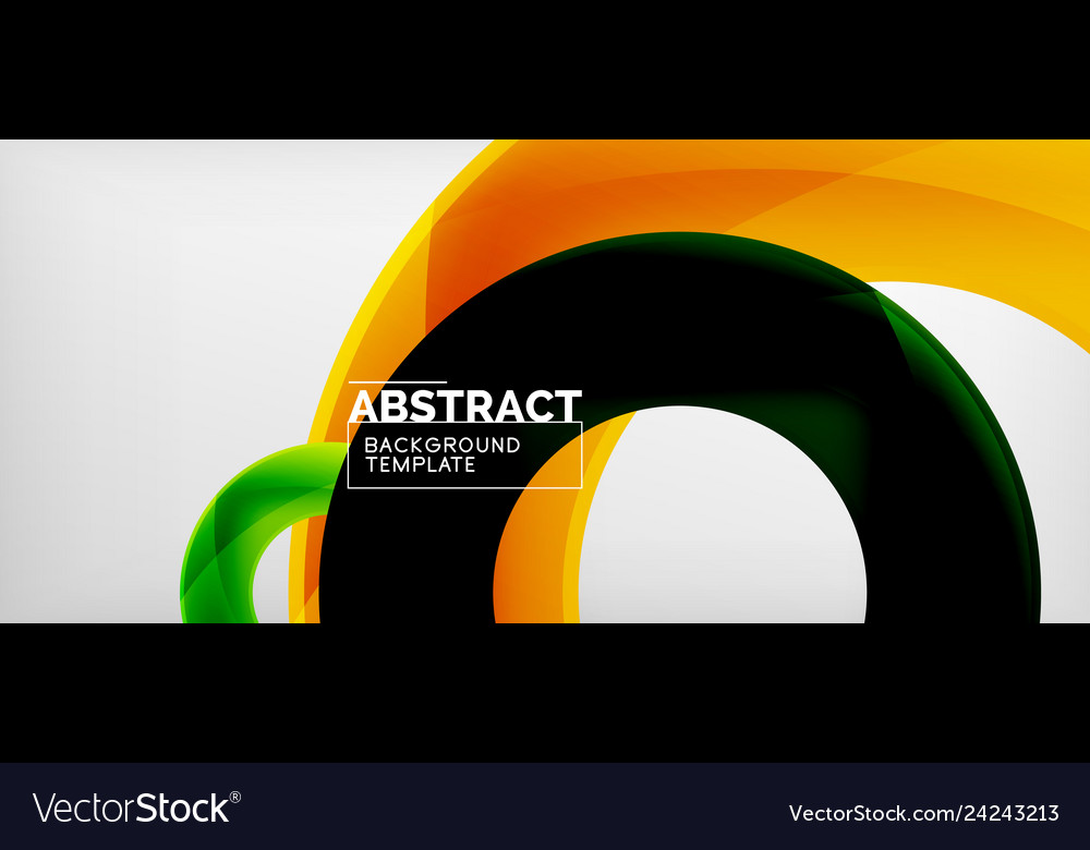 Colorful rings geometric abstract