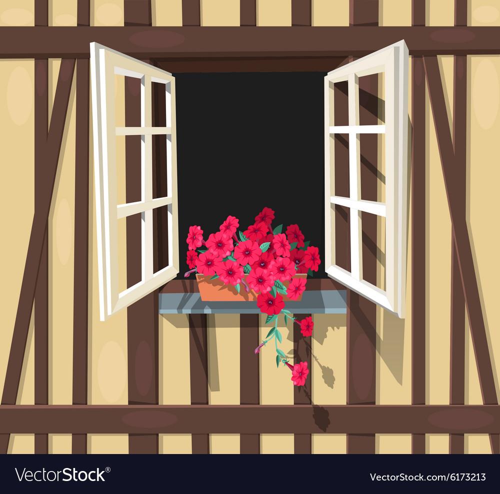 Half-timbered house window