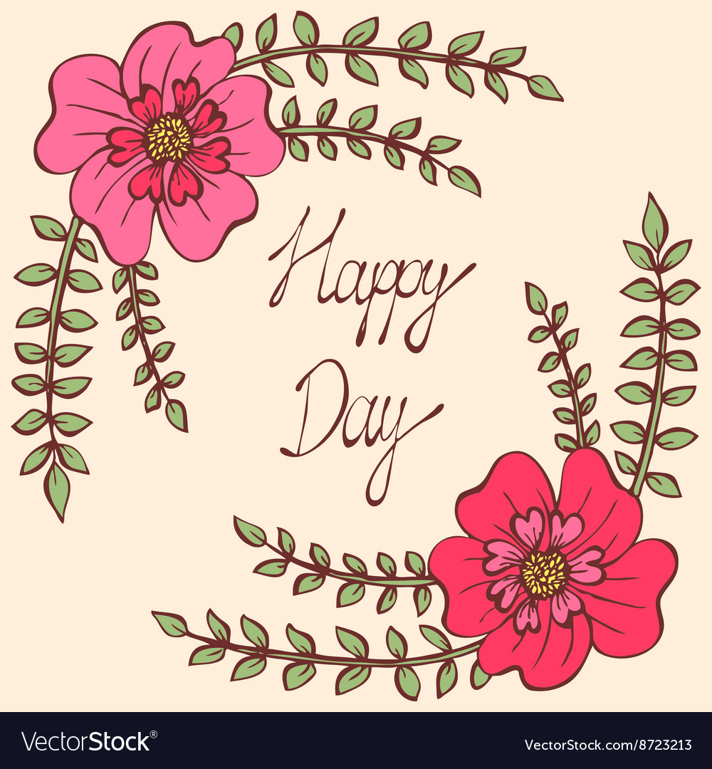 Happy day vintage colorful background