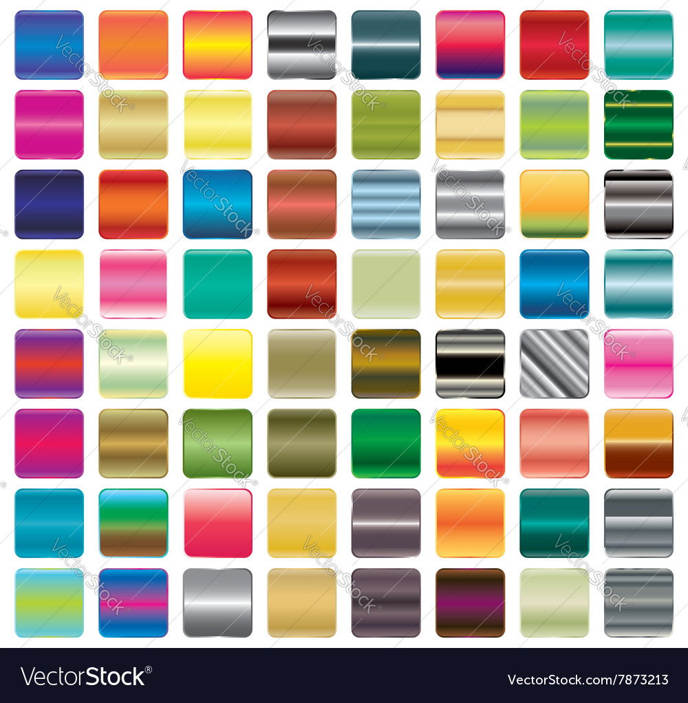 Set of gradient button icons for your design vector image