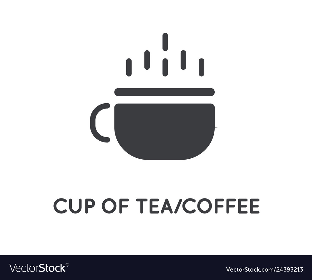 Tea or coffee cup hot element or glyph icon
