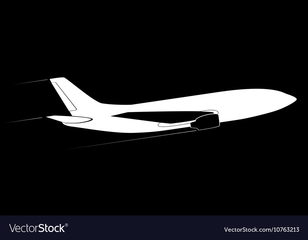The contour of the modern jet aircraft Side view