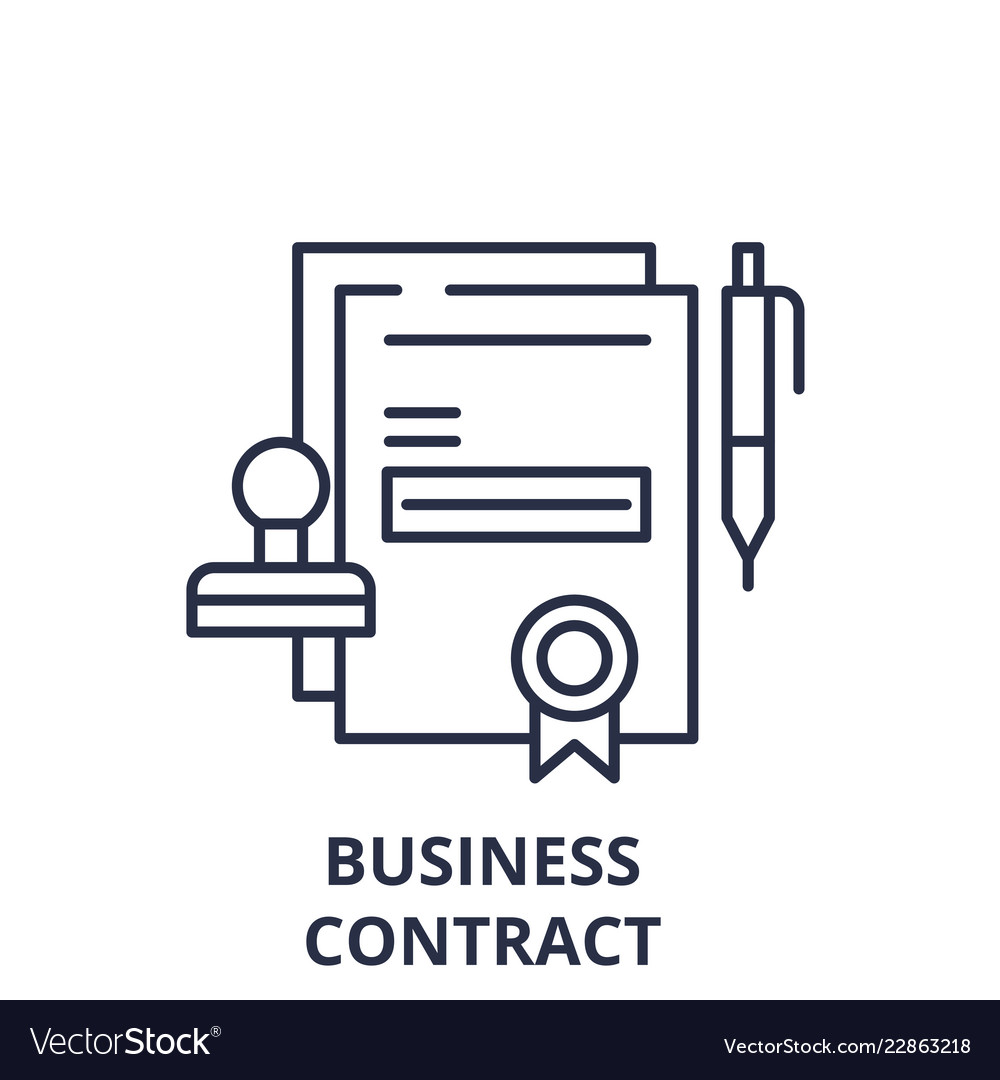Business contract line icon concept business