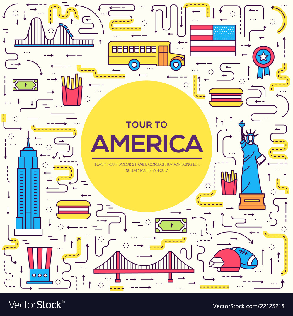 Country usa travel vacation guide of goods places