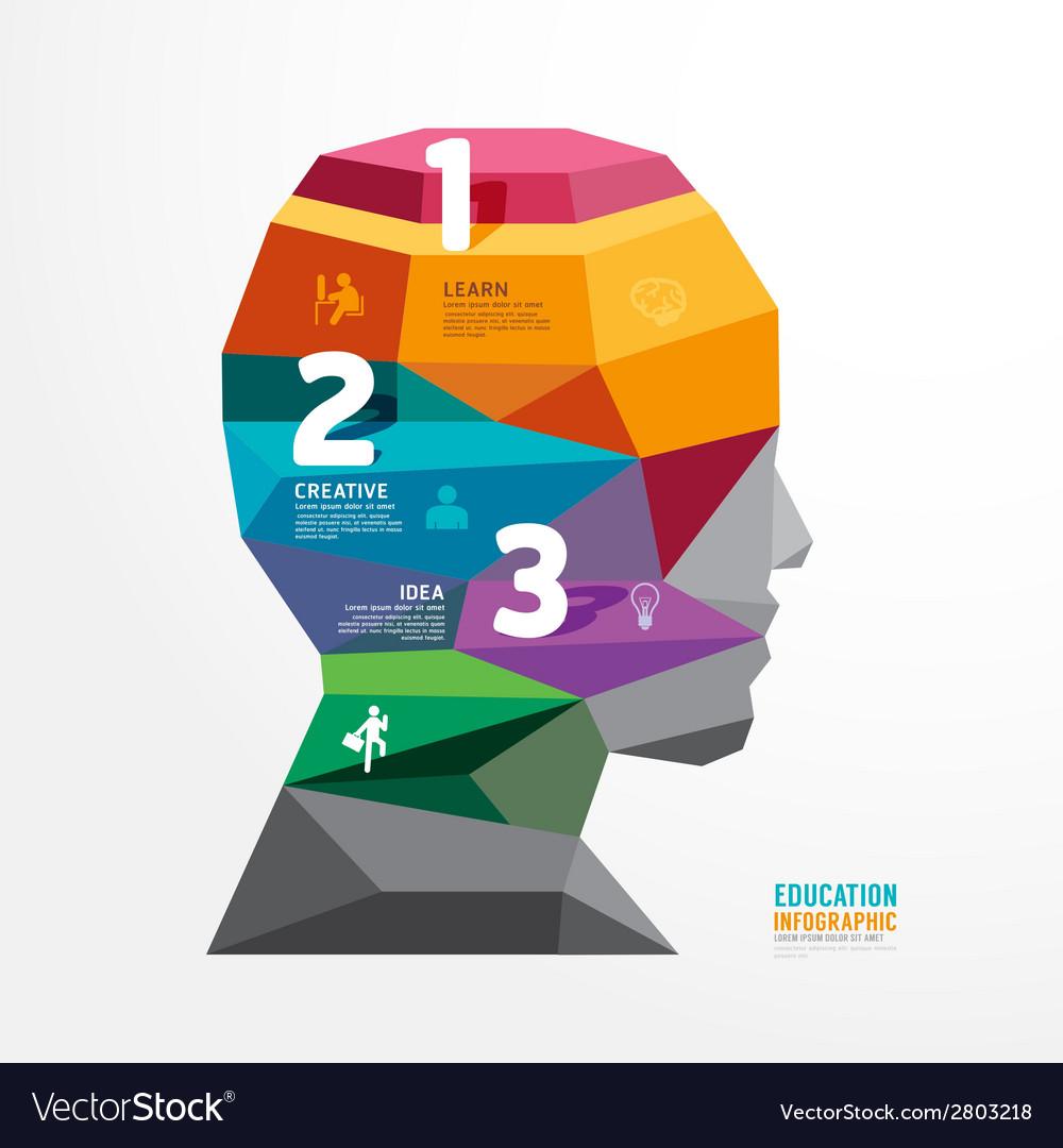 Geometric head design infographic Template