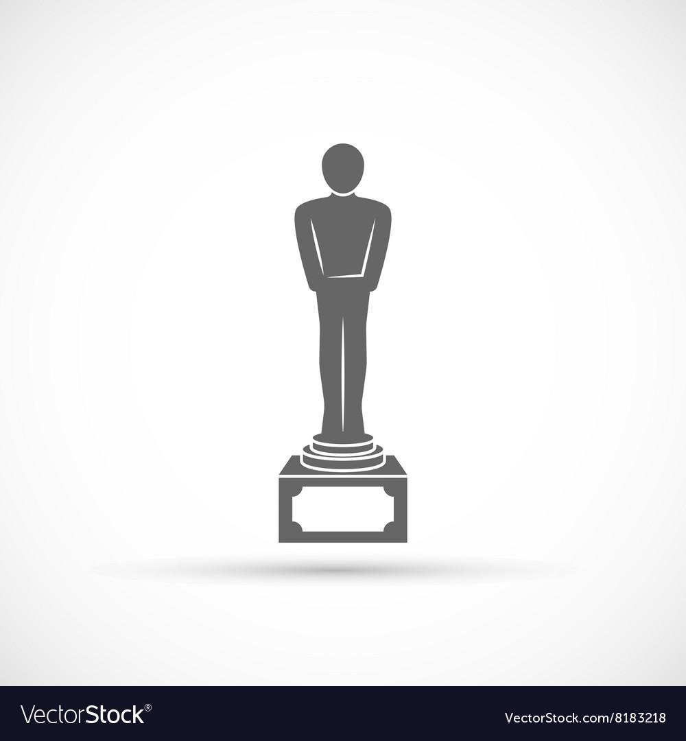 Movie award icon vector image