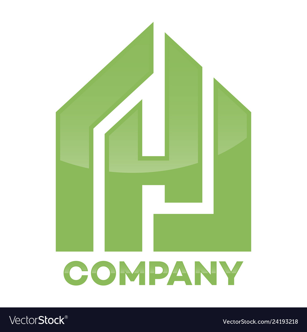 Real estate and h letter logo