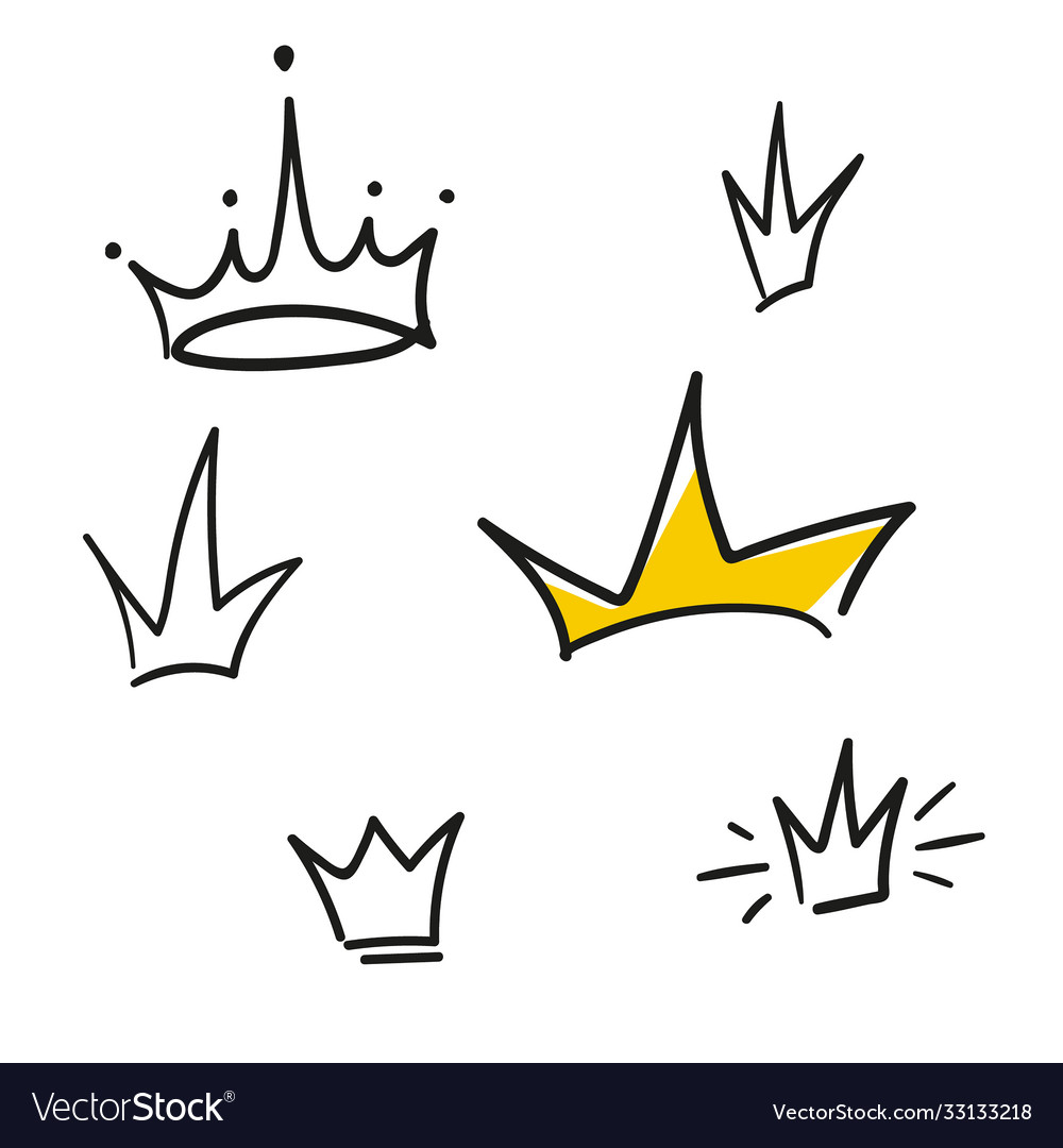 Set crowns icons