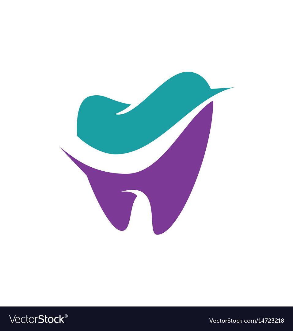 Tooth Dental Logo Royalty Free Vector Image Vectorstock