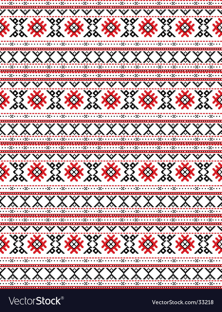 Traditional Russian Embroidery Design Royalty Free Vector