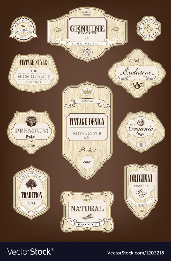 Vintage tree label