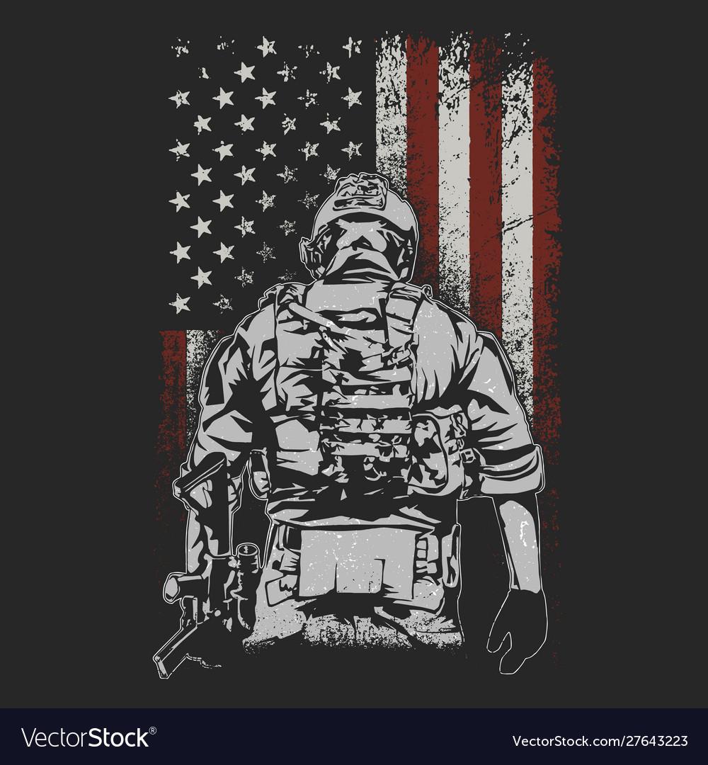 American soldier battlefield