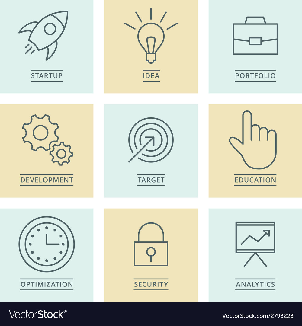Business infographics icons Development and