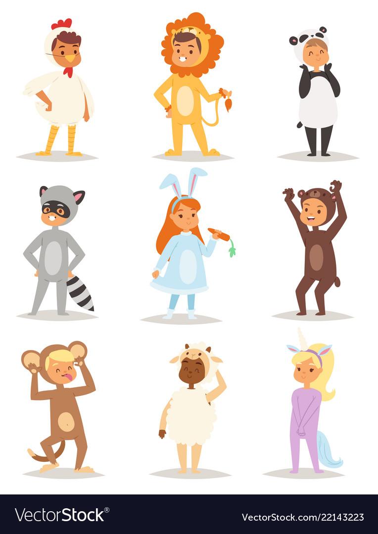 Children kids animal costumes characters