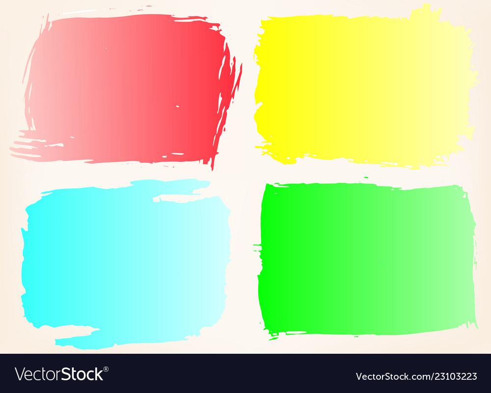 Grunge frame setcolor grunge background