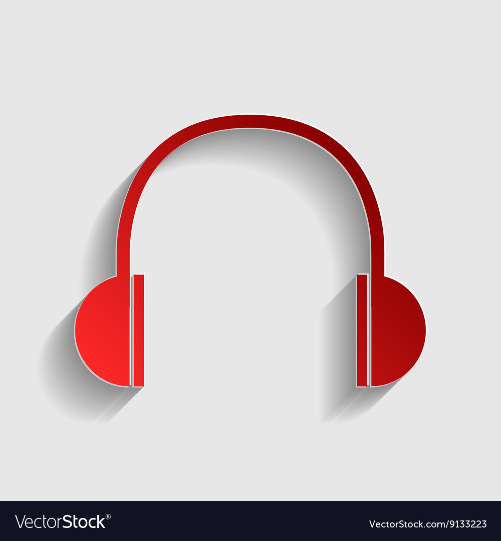 Headphones sign vector image