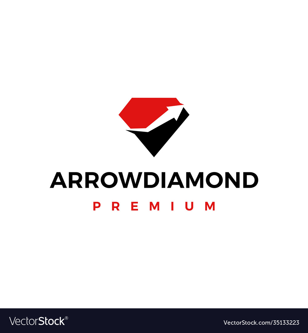High quality diamond arrow logo icon