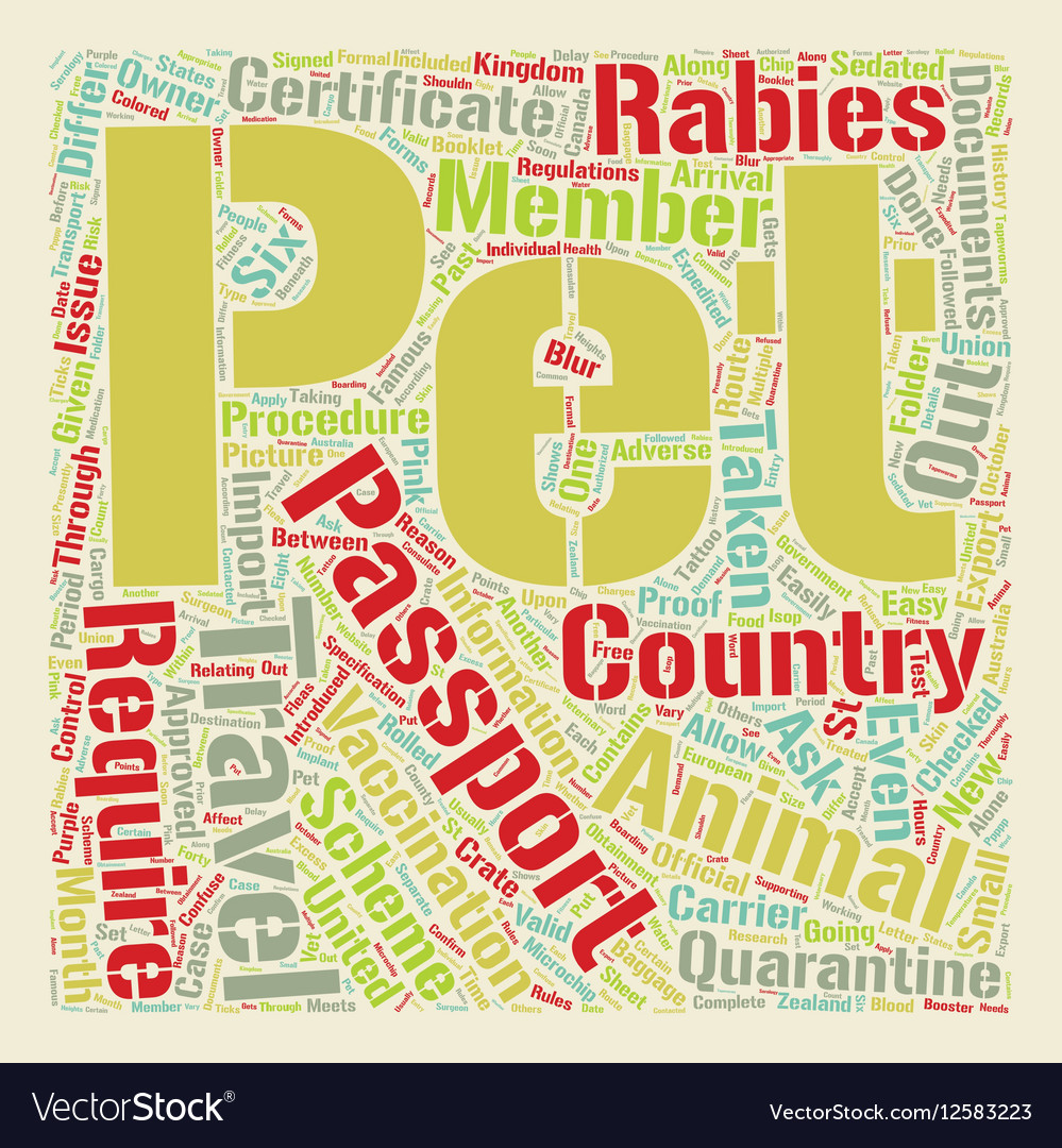 Pet Passport and PETS 1 text background wordcloud