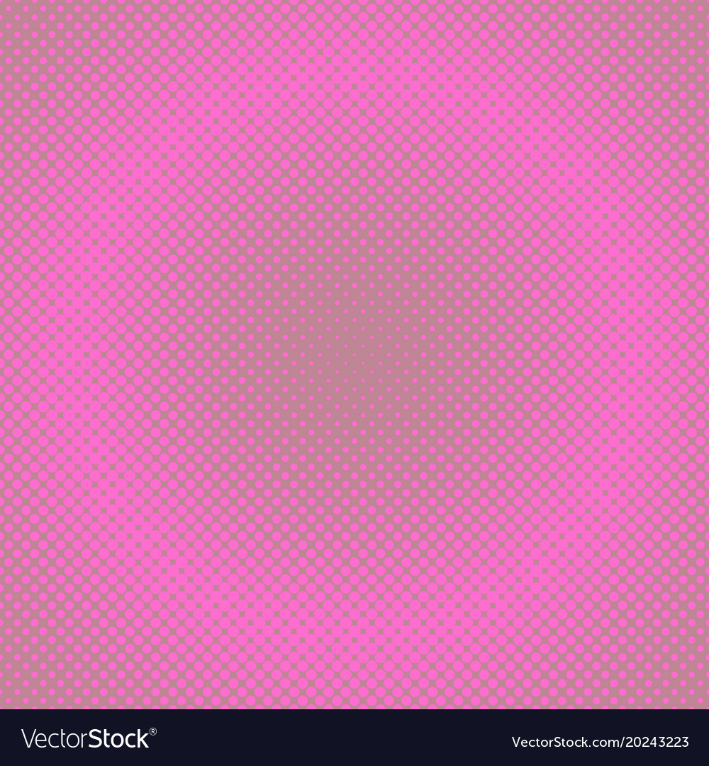 Retro halftone circle pattern background from dots vector image