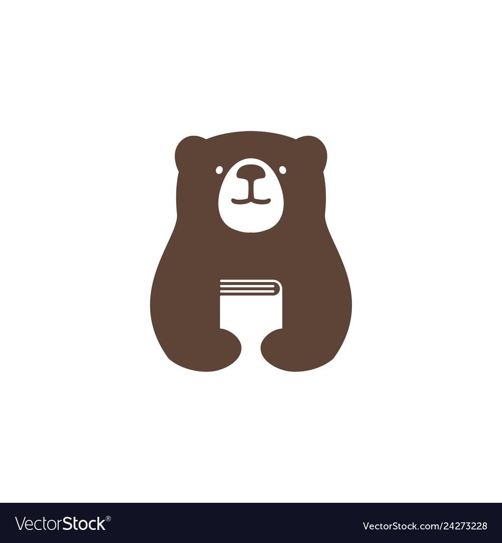 Bear book logo icon