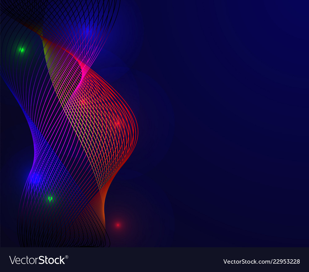 Colorful spectrum in blue background abstract