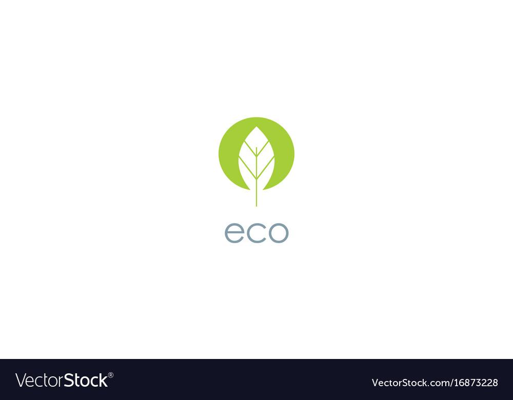 Green leaf eco logo
