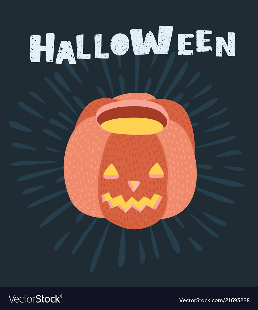 Halloween pumpkin icon isolated