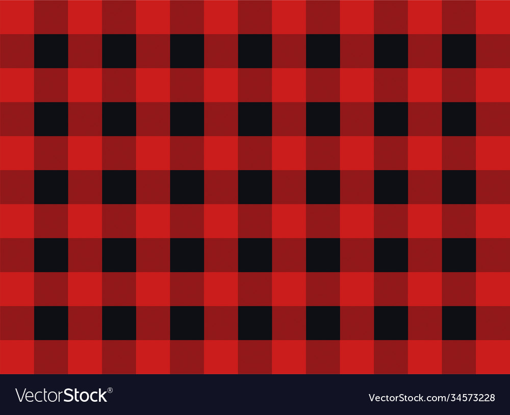 Plaid seamless pattern design red and black