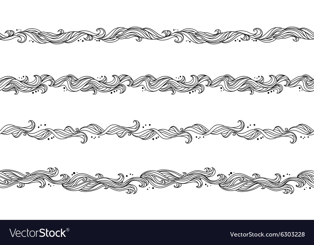 Seamless abstract floral hand-drawn pattern vector image