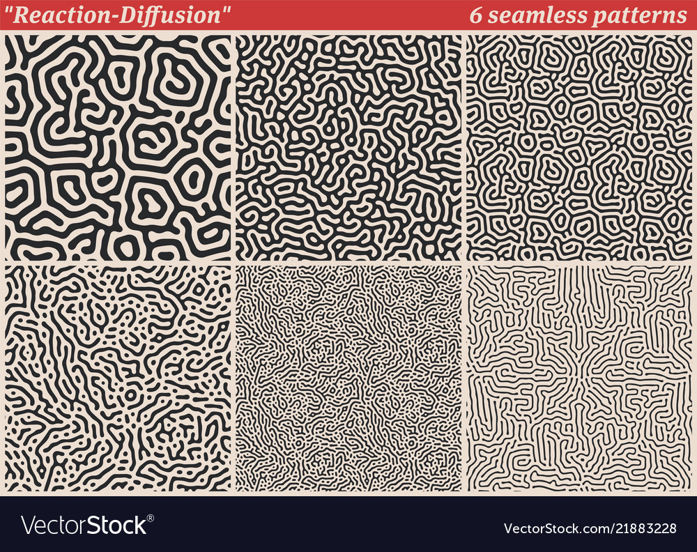 Set of diffusion reaction seamless patterns