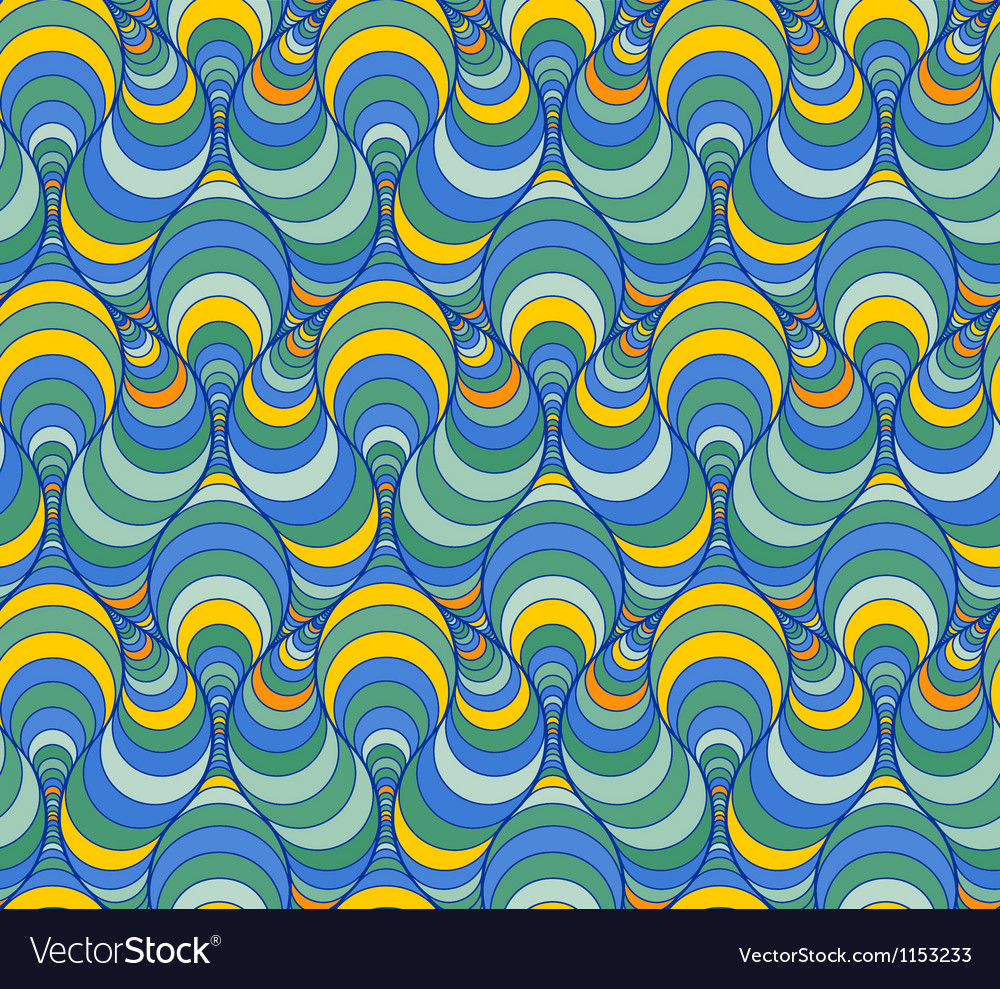 Abstract pattern with lined figures